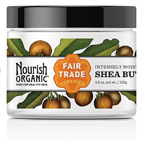 Price comparison product image Nourish Organic Body Butter,  Intensely Moisturizing Fair Trade Shea Butter,  5.5 Ounce