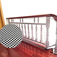 Banister Guard, Safe Rail, Deck Balcony & Stairway Safety Net for Indoor and Outdoor 6.56ft L x 2.6ft H - Baby Proofing, Child Safety, Stair Railing Net; Pet; Toy; Protector