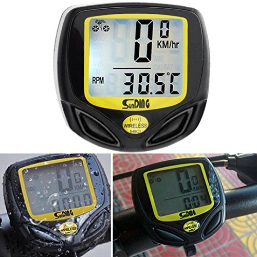 VENMO Waterproof Bicycle Speedometer With Compass Wireless Cycling Bike Computer Odometer With Temp LCD Screen