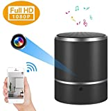 Hidden Camera Speaker Spy Camera Bluetooth Music Player WiFi 1080P Mini Cam Stereo Speaker Wireless Nanny Cameras Rotate Motion Detection Record and Alarm Video Recorder Home Security Rotate 180 degre