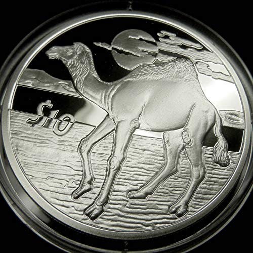 CAMEL Sterling Silver Proof Coin in Box with Certificate of Authenticity - 2006 Sierra Leone $10 Dollars - African Animals Series