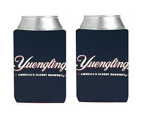 (Yuengling Brewery Beer Can Holder Cooler Kaddy Huggie Coolie Set of 2)