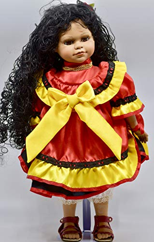 Westminster Inc - African-American Jamaica Jane Doll - 18 Inches - Doll Stand - Collectible - Rare