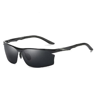 370613881e Fashion Mens HD Polarized Sunglasses Aluminum Sport Goggle Fishing Driving  Eyewear UV400 (Black Black)