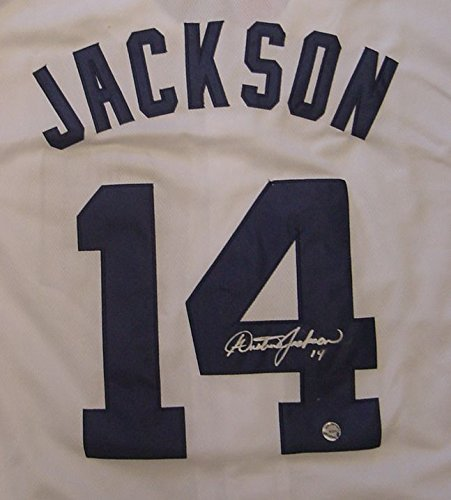 Austin-Jackson-Detroit-Tigers-Autographed-White-14-Jersey