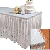 """Lace Plastic Table Skirt 29"""" x 14' Wedding Party"""