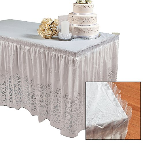 Plastic Table Skirt Wedding Party