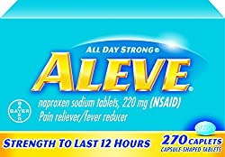 Aleve Caplets With Naproxen Sodium, 220mg (Nsaid) Pain Relieverfever Reducer, 270 Count