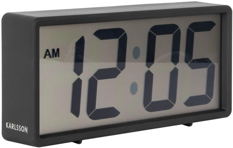 Karlsson Coy - Reloj de Mesa, plástico, Color Negro, Talla única