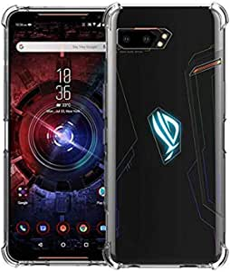 Slim Fit Clear Cover TPU Silicone Bumper Soft Anti-Scratch Shockproof Protective Case Compatible with ASUS ROG Phone 2 (Transparent)