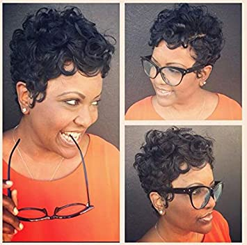 RUISENNA Short Curly Wigs for Black Woman