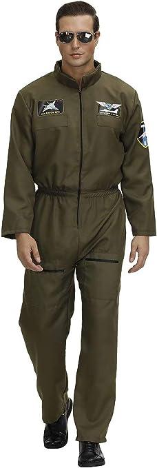 Amazon.com: Top Gun Disfraz de hombre y mujer adulta traje ...