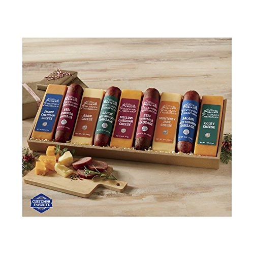 9-Piece Heartland Cheese & Sausage Gift Box from Wisconsin Cheeseman by The Wisconsin Cheeseman