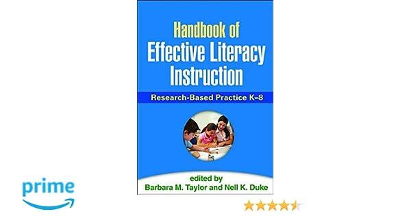 Amazon Handbook Of Effective Literacy Instruction Research