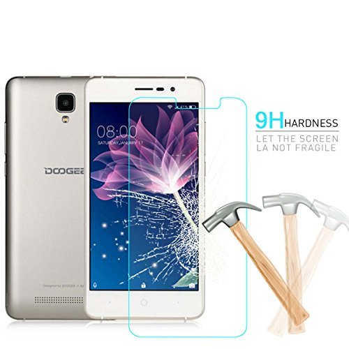 Doogee X10 Tempered Glass,HYYT Tempered Glass Screen Protector Premium Front Film Scratch Proof,Bubble Free,9H Hardness with Package for Doogee X10 (2-pack)