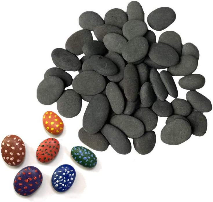 Crafts Decoration,Large//Medium//Tiny Rocks for Painting,Hand Picked for Painting Rocks DIY Rocks Flat /& Smooth Kindness Rocks for Arts Lifetop 60PCS Painting Rocks