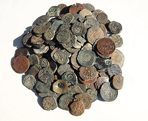 ES ONE 17th Century Spanish Colonial Caribbean Pirate Era Cob Coin Good Details