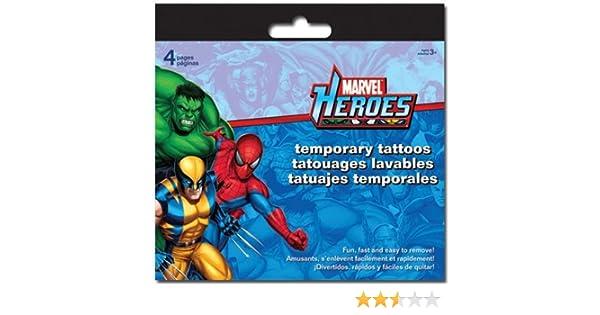 Marvel Heroes Temporary Tattoos - 8 Sheets