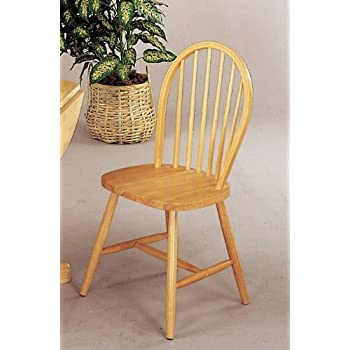 Coaster 4127 Damen Windsor Dining Chairs Natural Wood Finish Set Of Four
