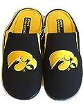 College Edition Men's Black Scuff Slippers (Medium, Iowa)