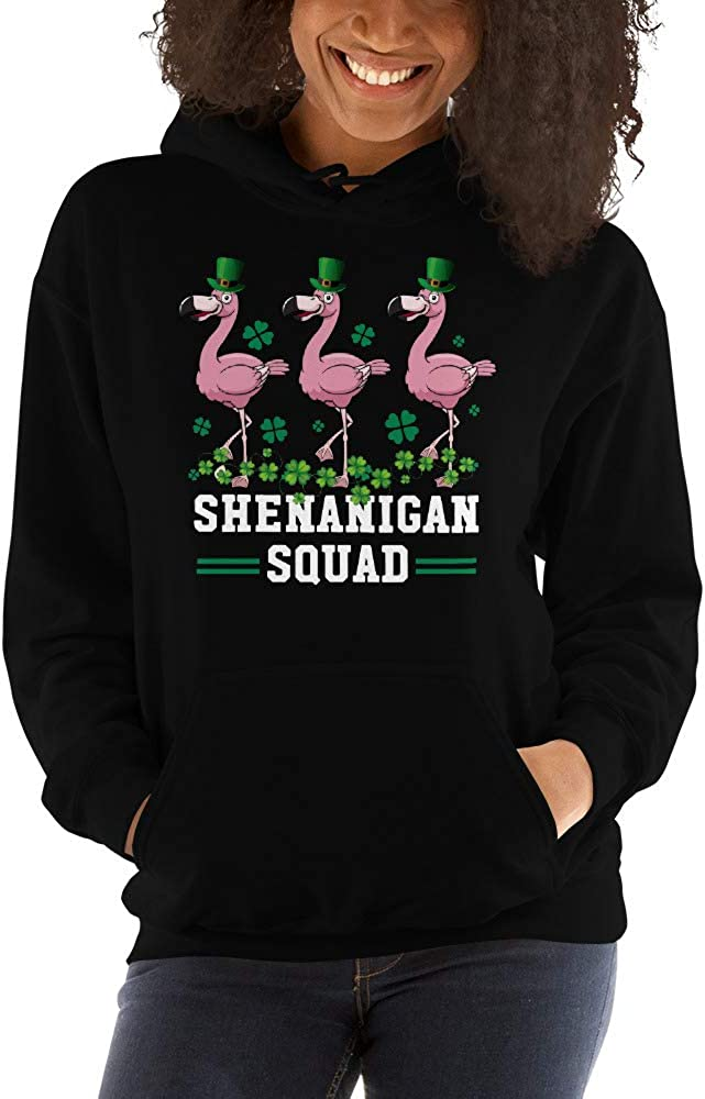 Shenanigan Squad Flamingo Leprechaun Hat St Patricks Day Unisex Hoodie