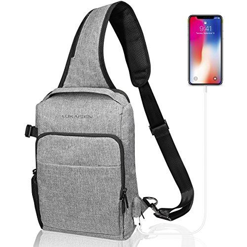 Sling Bag Shoulder Backpack Chest Crossbody Bag Women Men Multipurpose Daypack (Reversible Sling)