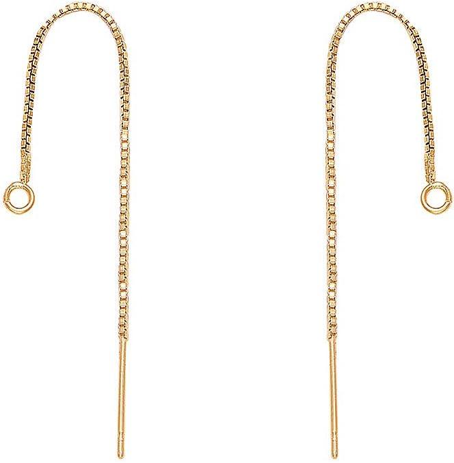 10 Flat Wire Sterling Silver 20 Gauge Fishhook Hook Earring Findings W//Open Loop