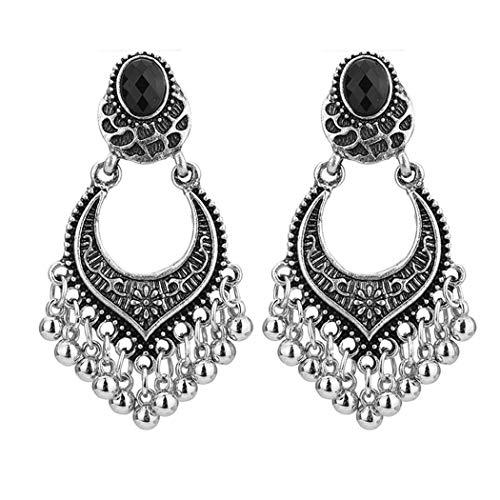 Aelove Women Retro Style Earrings Jewelry Trendy Rhinestone Tassel Charm Wedding Gift Pendants