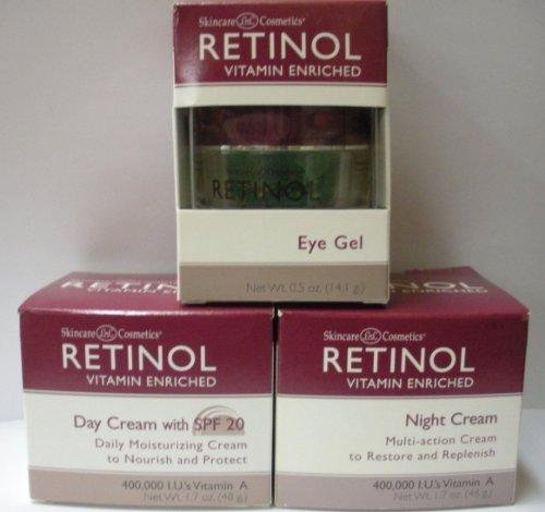 Skincare Ldel Cosmetics Retinol Combo 1. Day Cream 1.7oz + Night Cream 1.7 Oz + Eye Gel 0.5oz