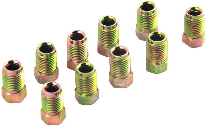 Set 10 x 1 mm Maschio Metallo Breve Freno del Tubo a Vite Dadi di Ricambio per 3//16 di Pollice Metrics Tubo di frenatura Rekkle 10pcs
