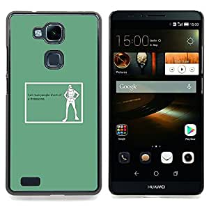 Jordan Colourful Shop - Threesome Funny Quote Art Sex Life People For HUAWEI Ascend Mate 7 - < Personalizado negro cubierta de la caja de pl??stico > -