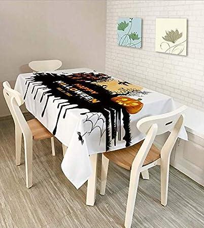 Amazon.com: Shuangklei Waterproof Tablecloth, Halloween ...