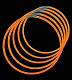 ": 22"" Lumistick Glowsticks Light Stick Necklaces ORANGE for Halloween (100 Necklaces)"