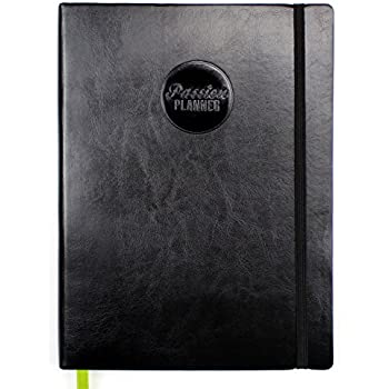 Passion Planner Undated - Goal Oriented Daily Agenda, Appointment Calendar, Gratitude and Reflection Journal - Classic Size (A4) Sunday Black
