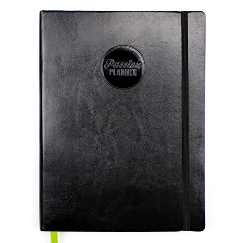 Passion Planner 2018 Dated (Jan-Dec) - Daily Agenda, Appointment Calendar, Gratitude and Reflection Journal to Increase Productivity and Achieve Goals - Classic Size (A4) Sunday Start (Black)