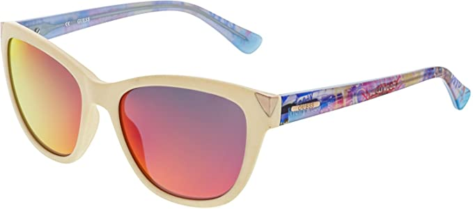 93e08a8918 Amazon.com  GUESS Eyewear Square Sunglasses (Ivory)  Guess  Clothing