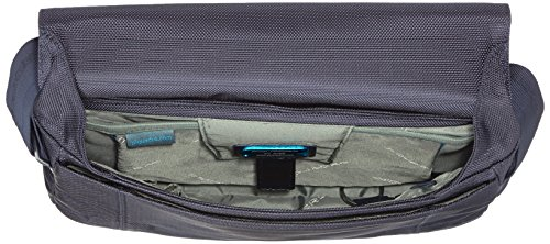 Piquadro CA2224LK Messenger, Collezione Link, in Pelle e Tessuto, Blu