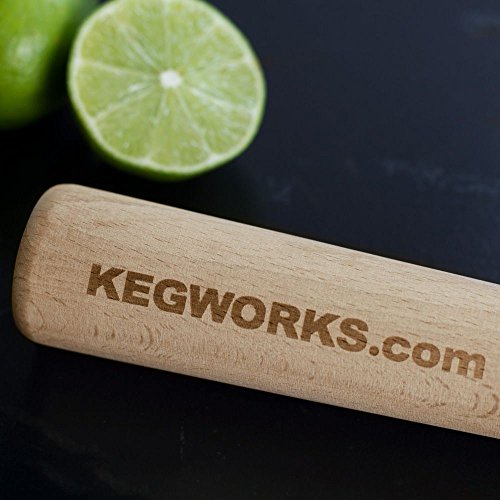 "Metal 30 Ounce Bar Cocktail Shaker Tins 10 Pack - Value Pack - Plus (1) Big KegWorks 12"" Wooden Muddler by KegWorks (Image #5)"
