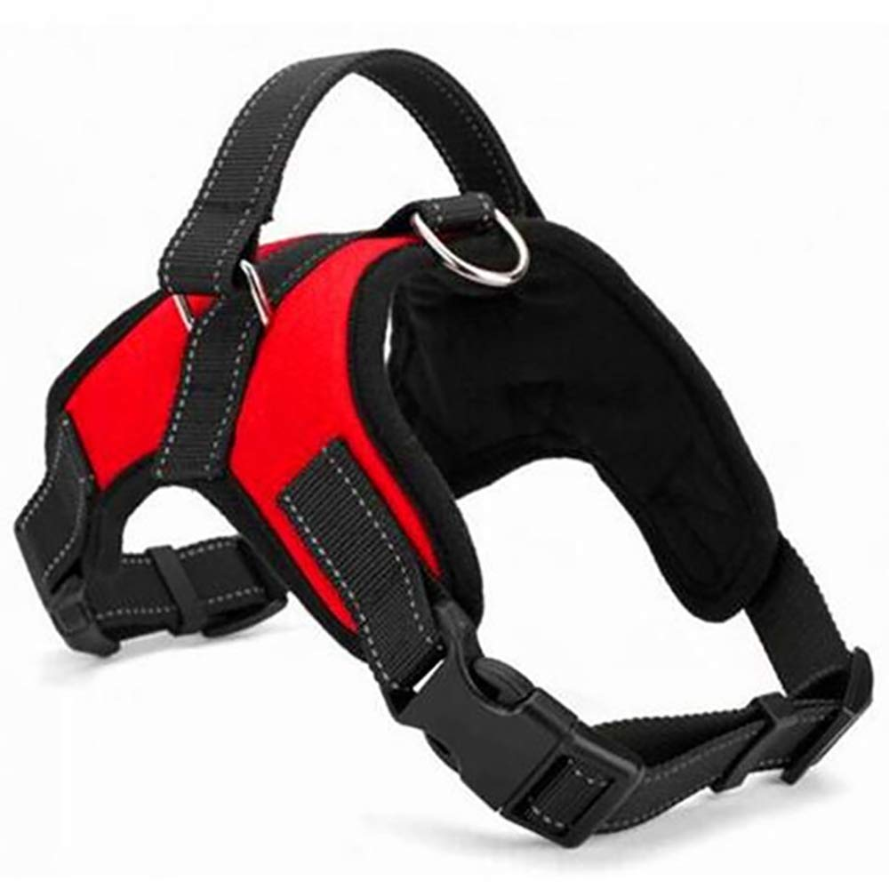 Red M Red M LIULINCUN Dog Vest Harness,Adjustable No Pull Nylon Dog Harness,Pet Vest for Dogs Easy Control for Small Medium Large Dogs,Red,M