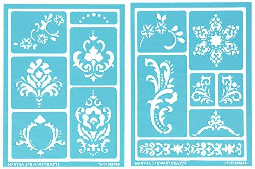 Martha Stewart Crafts Adhesive Stencils (5.75 by 7.75-Inch), 32268 13 Scrolls 13 Designs
