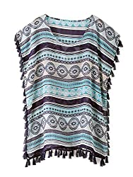 ZERACA Women's Summer Causal Boho Kimono Cardigan Cover Up (M10, Boho)