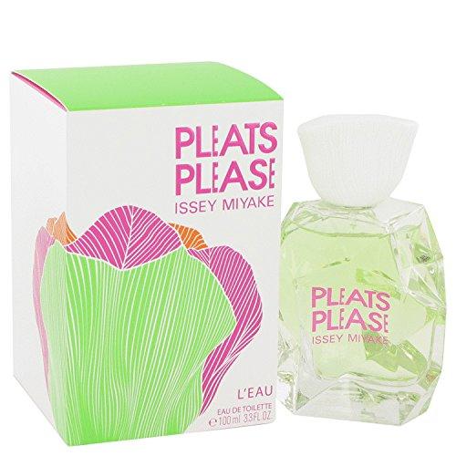Pleats Please L'eau Perfume By ISSEY MIYAKE 3.3 oz Eau De Toilette Spray FOR WOMEN