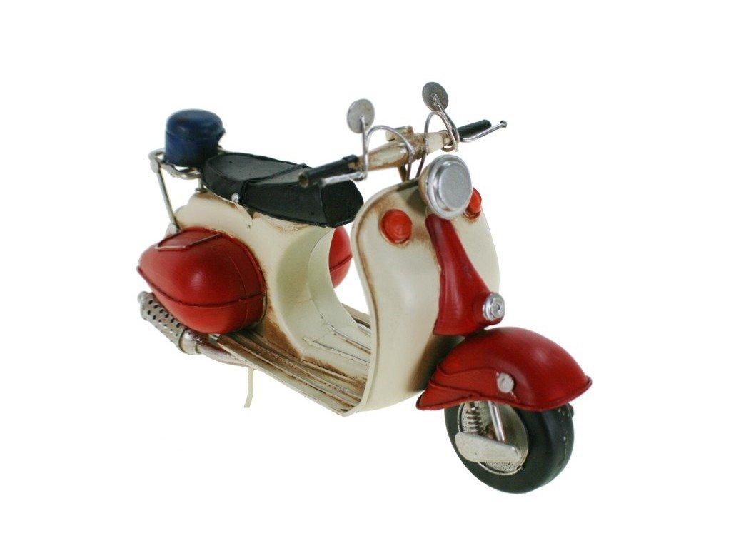 CAL FUSTER Réplica Moto Vespa de Metal roja y Blanca con Casco. Medidas: 17x29x11 cm.: Amazon.es: Juguetes y juegos