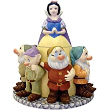 Disney Snow White 80th Anniversary Cookie Jar - Surrounded By All 7 Dwarfs