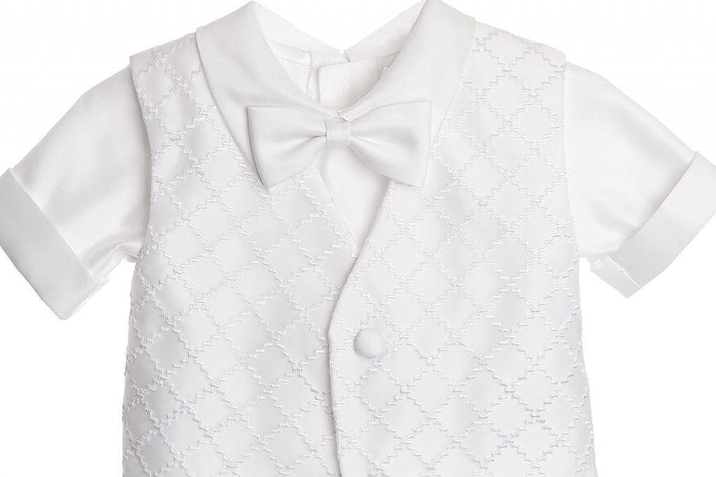 CALDORE USA Baby Boy Christening Outfit Checkered Design Vest Short Set for Baptism