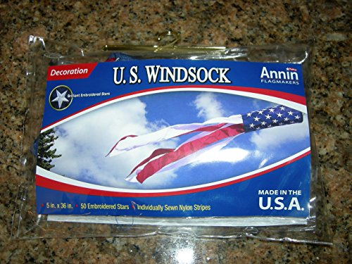 U.S. Flag Windsock Decoration-36 inches