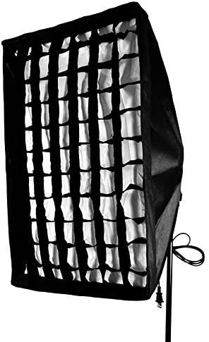 AGG1379 4X Day Light Studio Bulbs and Light Stand LimoStudio Photo Video Photography 16x24 Honey Comb Grid Softbox Diffuser Reflector Kit with 4 Socket Light Bulb Adaptor