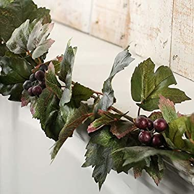 Factory Direct Craft Flexible Artificial Grape Leaf Garland