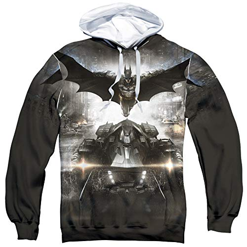 Trevco Batman Arkham Knight Poster Unisex Adult Sublimated Pull-Over Hoodie for Men and Women -