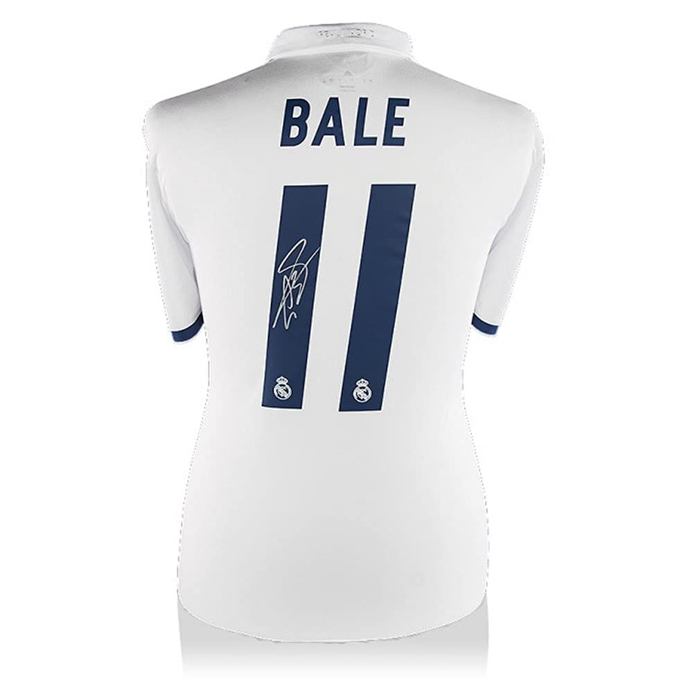 Gareth Bale Signiertes Real Madrid Home Trikot 2016 2017 Official Style
